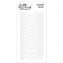 THS024 Stampers Anonymous Tim Holtz Layering Stencil - Chevron